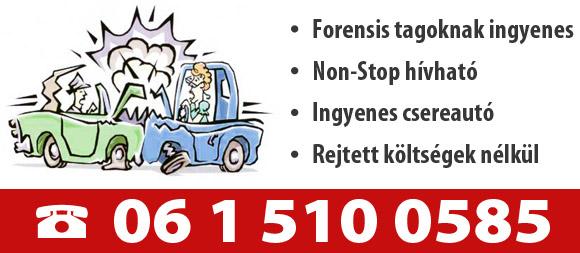 Autómentő szolgáltatás Forensis tagoknak